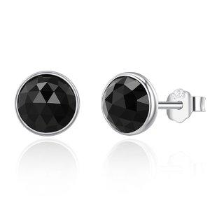 Cercei din argint cu Cristale Negre