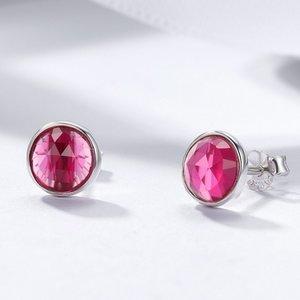 Cercei din argint cu Cristale Roz