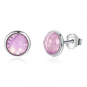 Cercei din argint cu Cristale Roz Opalescent