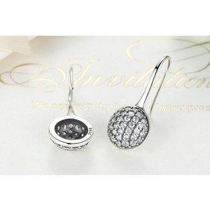 Cercei din argint cu Cristale Stralucitoare