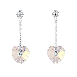 Cercei din argint cu cristale Swarovski Boreal Crystal Hearts