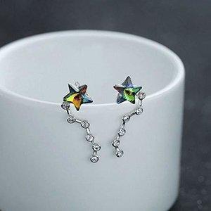 Cercei din argint cu cristale verzi Midnight Star