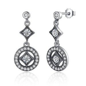 Cercei din argint cu Cristale Vintage