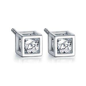 Cercei din argint cu Cuburi Mici