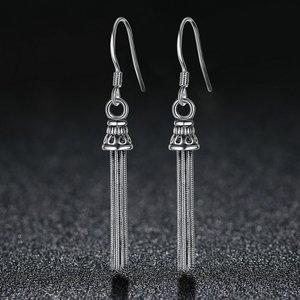 Cercei din argint cu Franjuri Argintii