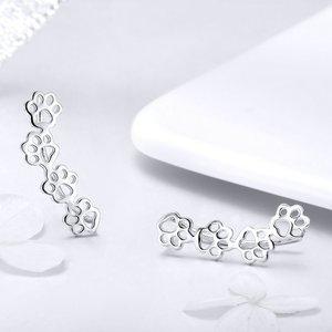 Cercei din argint cu Labute Argintii
