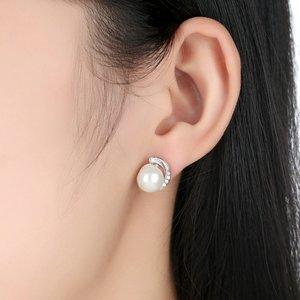 Cercei din argint cu Perle Albe