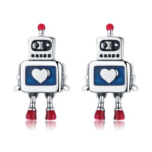 Cercei din argint cu Robotel