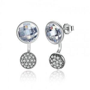 Cercei din argint cu Stropi de Cristale