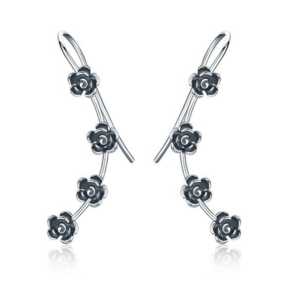 Cercei din argint cu Trandafiri Mici
