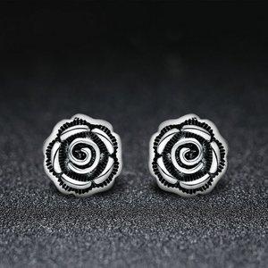 Cercei din argint cu Trandafiri Patinati