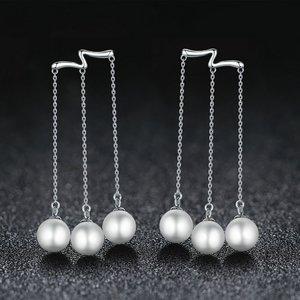 Cercei din argint cu Trei Perlute