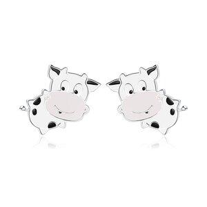 Cercei din argint Cute Cow Studs