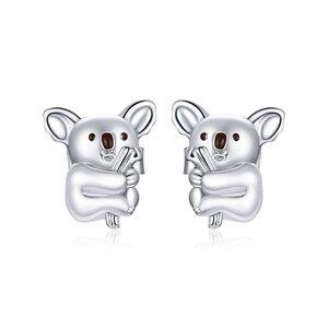 Cercei din argint Cute Koala Bear