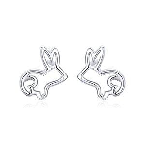 Cercei din argint Cute Rabbit