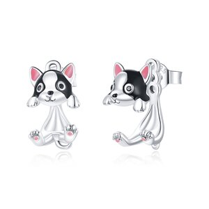 Cercei din argint Cute Silver Puppy