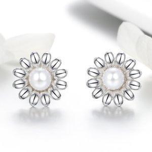 Cercei din argint Daisy Pearl