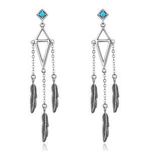Cercei din argint Dancing Feathers
