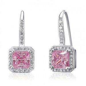 Cercei din argint Diamond Crystal Lady pink