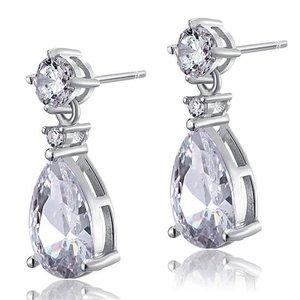 Cercei din argint Diamond Double Pear