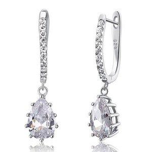 Cercei din argint Diamond Long Pear