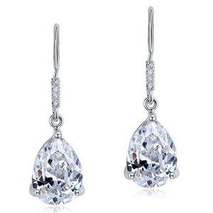 Cercei din argint Diamond Long Water Drops