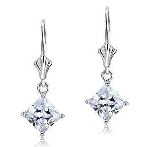 Cercei din argint Diamond Star Clear