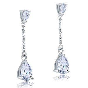 Cercei din argint Diamond Teardrop