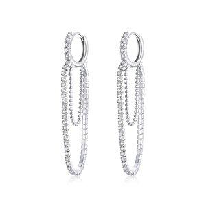 Cercei din argint Diva Glam's Hoops
