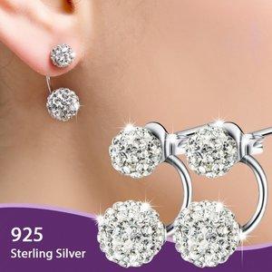 Cercei din argint Double Diamonds