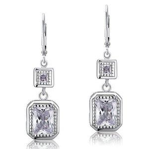 Cercei din argint Double Elegance Diamond