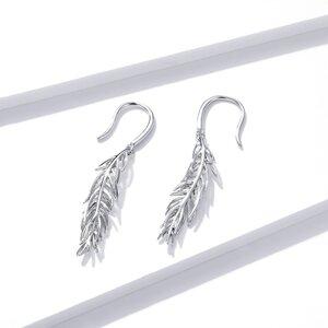 Cercei din argint Drop Feathers