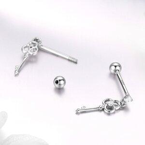 Cercei din argint Dropping Key