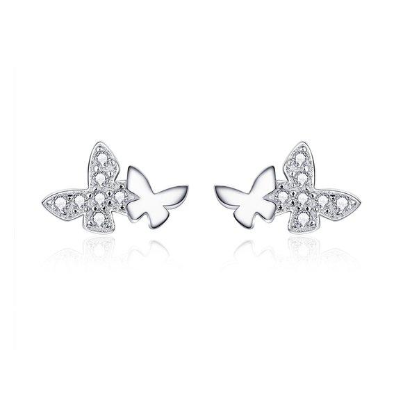 Cercei din argint Elegant Butterfly
