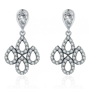 Cercei din argint Elegant Chandelier