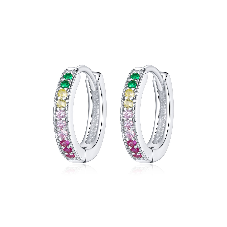 cercei din argint elegant colored hoops 87211 4