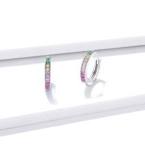 Cercei din argint Elegant Colored Hoops