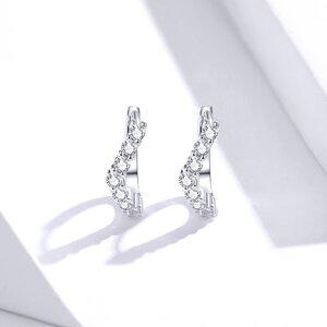 Cercei din argint Elegant Crystals Hoops