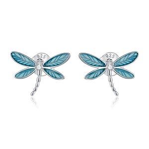 Cercei din argint Elegant Dragonfly