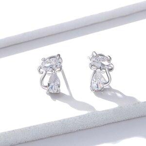 Cercei din argint Elegant Kitties