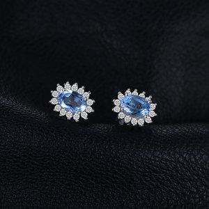 Cercei din argint Elegant Light Blue Topaz