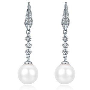 Cercei din argint Elegant Pearl Look