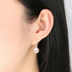 Cercei din argint Elegant Pearls champagne