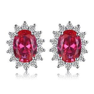 Cercei din argint Elegant Ruby