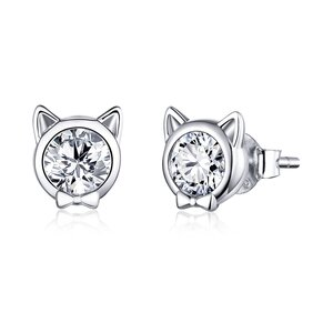 Cercei din argint Elegant Shiny Cats