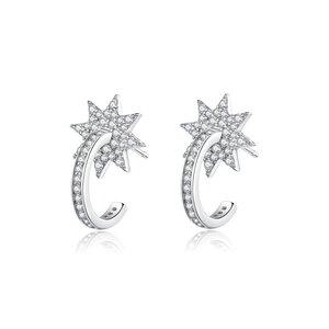 Cercei din argint Falling Star