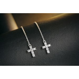 Cercei din argint Fashion Cross