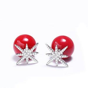 Cercei din argint Fashion Diamond Stud