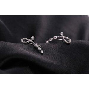 Cercei din argint Fashion Diamonds