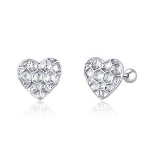 Cercei din argint Fillet Heart